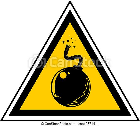 Danger bomb - csp12571411