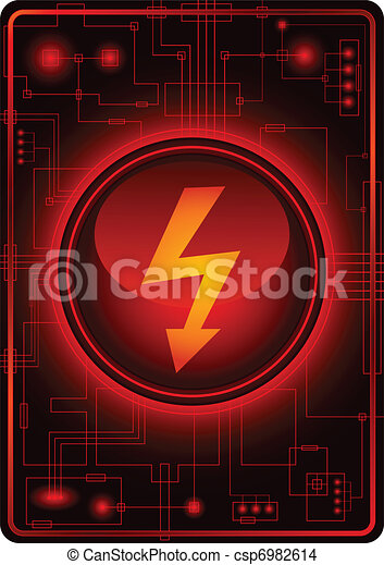 Danger button - csp6982614