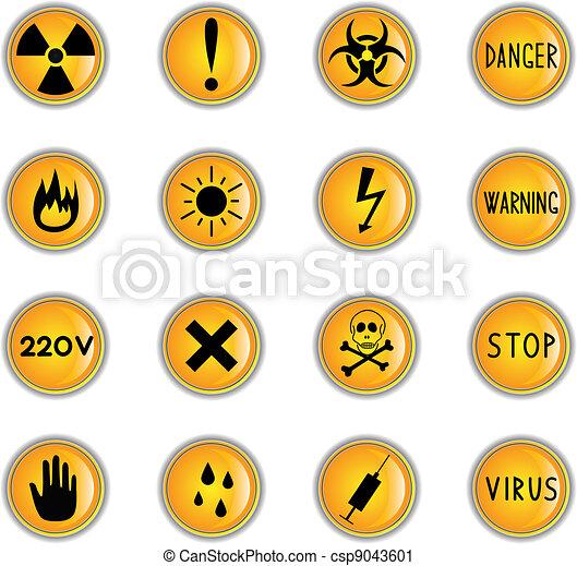 Danger buttons - csp9043601