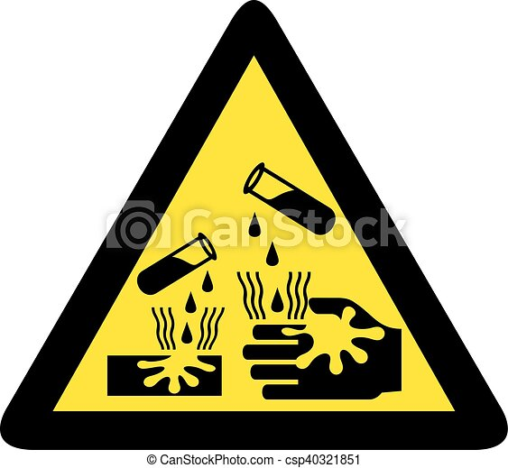 danger corrosive sign - csp40321851