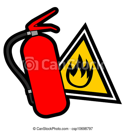 Danger fire sign - csp10698797