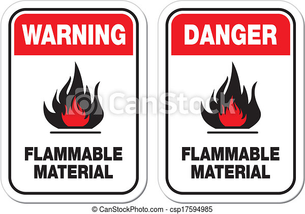 danger flammable material signs - csp17594985