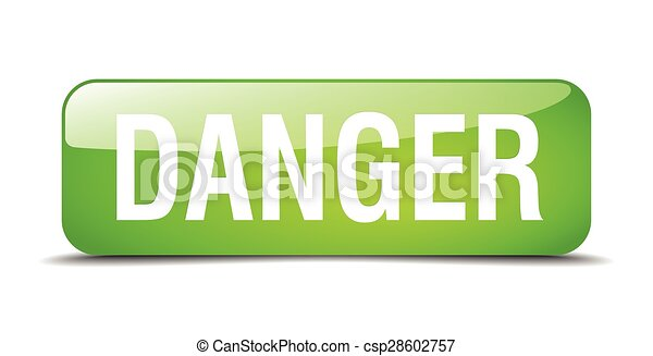 danger green square 3d realistic isolated web button - csp28602757