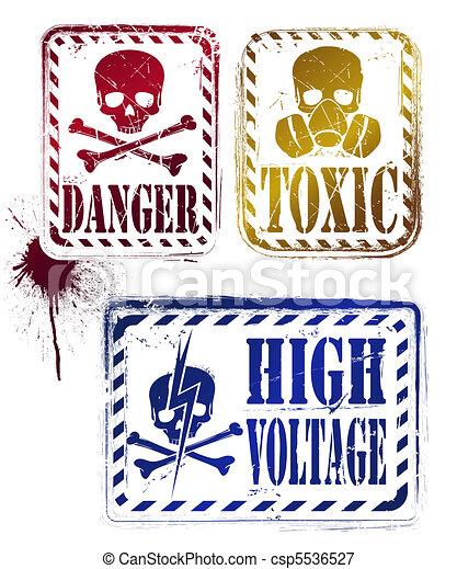danger grunge stamp - csp5536527