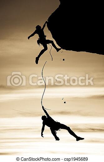 danger., klimmers, team - csp1945689