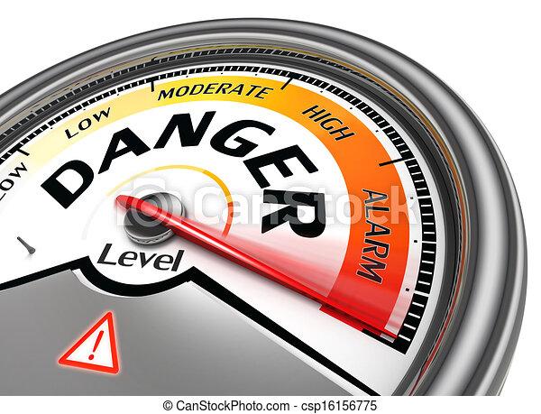 danger level conceptual meter - csp16156775