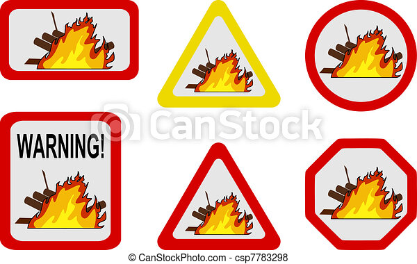 Danger nature - conflagration, wildfire - csp7783298