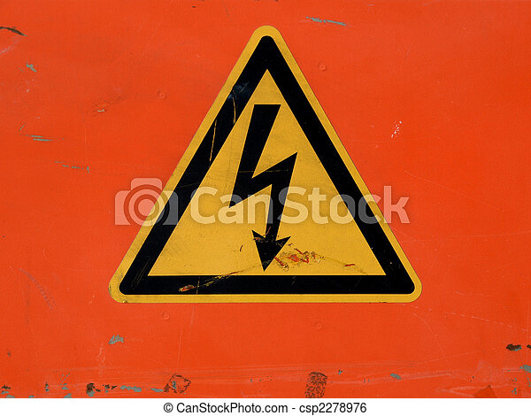 Danger of death Electric shock - csp2278976