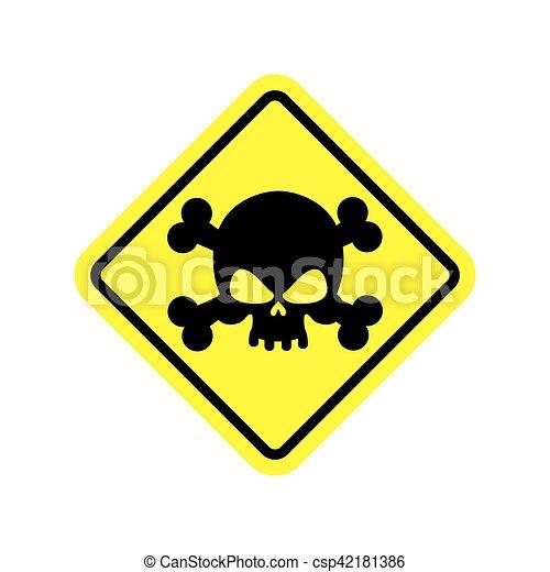 danger poison sign yellow attention toxic hazard warning sign acid