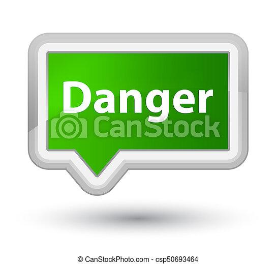 Danger prime green banner button - csp50693464