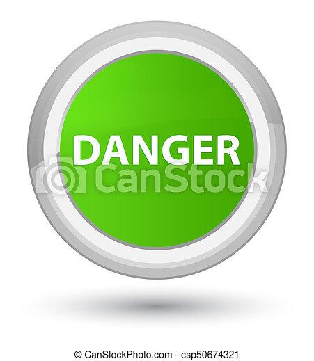 Danger prime soft green round button - csp50674321