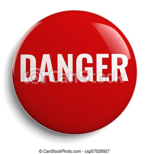 Danger Red Round Icon Symbol - csp57026927