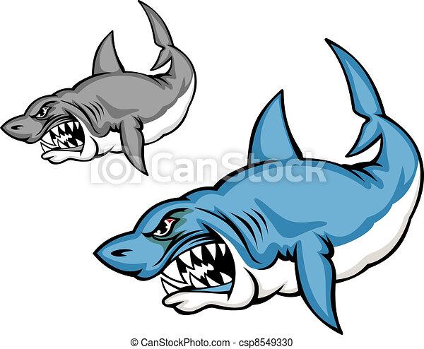 Danger shark - csp8549330