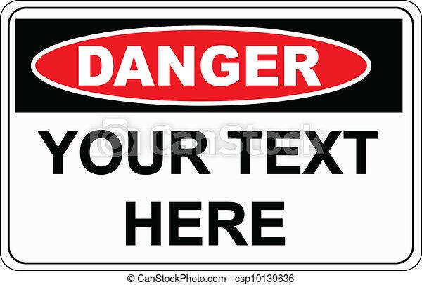 Danger sign - csp10139636