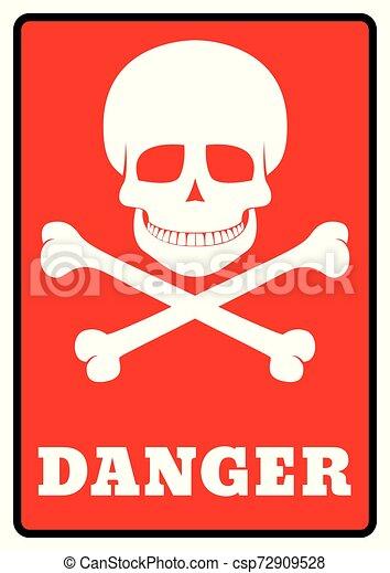danger skull warning death symbol danger skull icon on red background drawing by illustration https www canstockphoto com danger skull warning death symbol 72909528 html