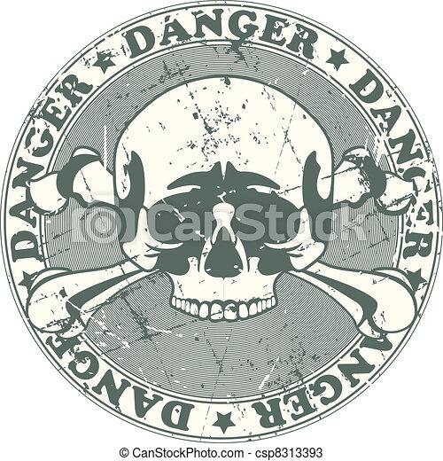 Danger stamp - csp8313393