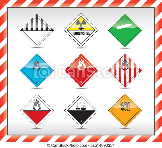 Danger symbols, sign - csp14093354