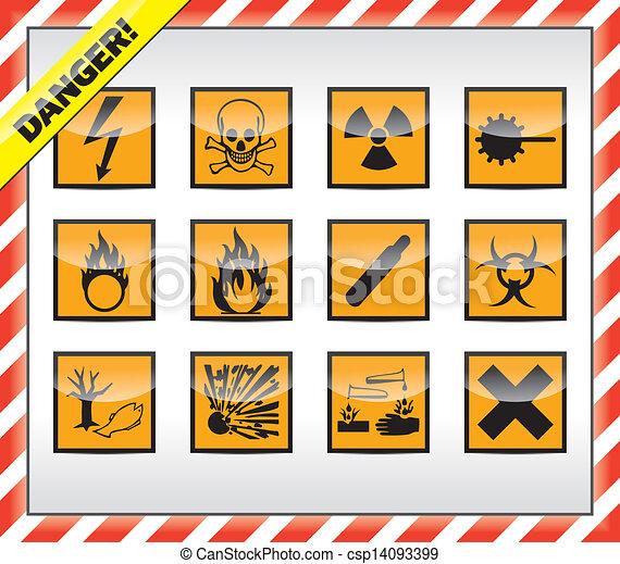 Danger symbols, sign - csp14093399