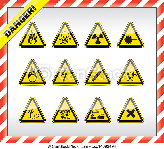 Danger symbols, sign - csp14093494