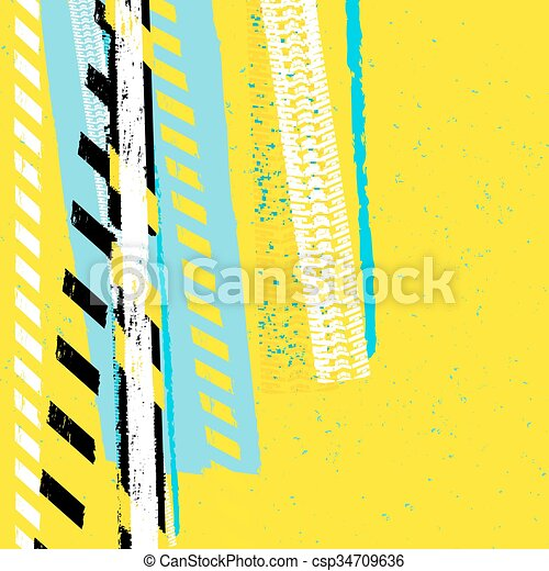 Danger Tape Background - csp34709636