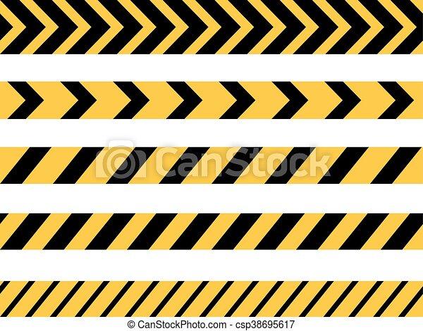 Danger Tape Lines - csp38695617
