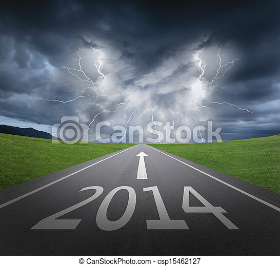danger to 2014 new year concept - csp15462127