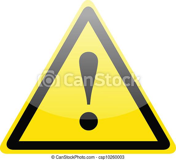 Danger warning sign - csp10260003