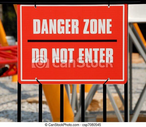 Danger Zone Sign - csp7080545
