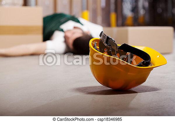 dangereux, travail, pendant, accident - csp18346985