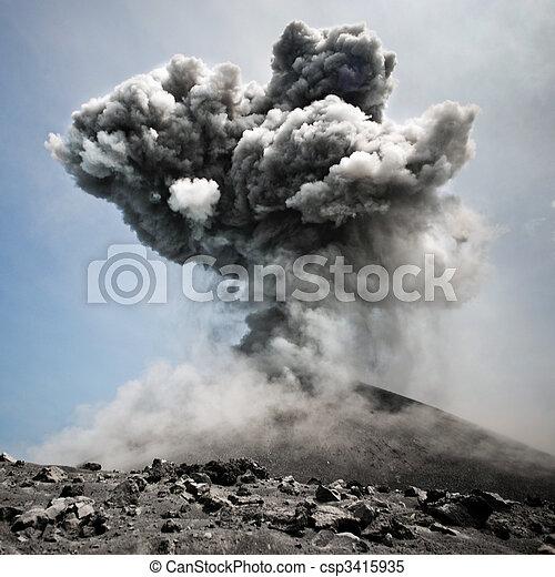 Dangerous explosion - csp3415935