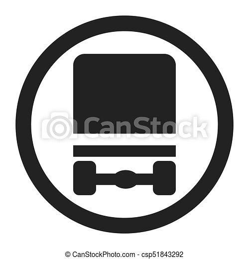 Dangerous Goods Transport Prohibition Sign Icon Dangerous Goods