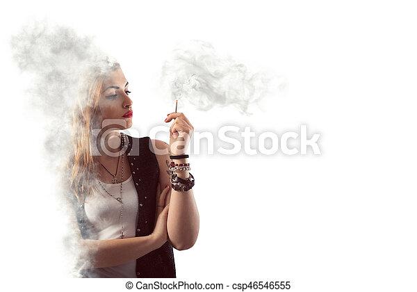 Dangerous smoking - csp46546555