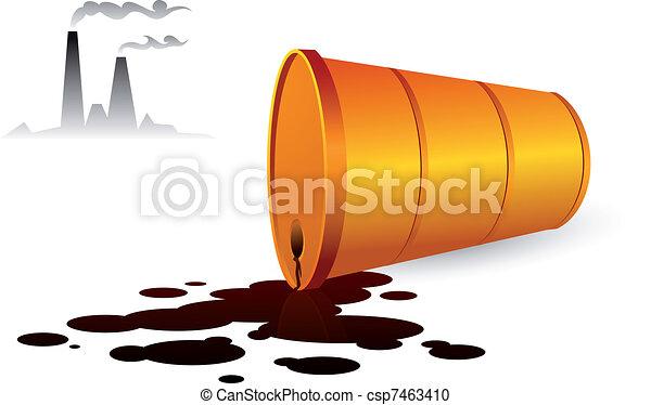 Dangerous toxic pollution - csp7463410