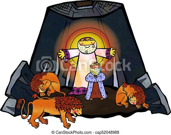 Daniel in the Lions Den - csp52048988