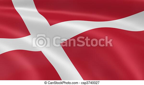 Danish flag in the wind - csp3740027
