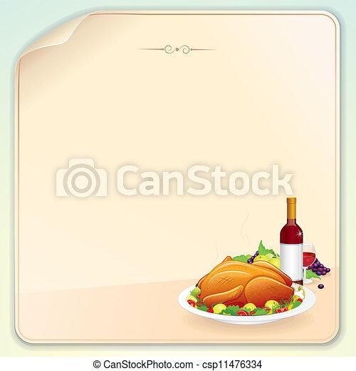 dankzegging, kaart, groet - csp11476334