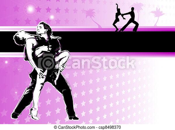 dans, latino, passion - csp8498370