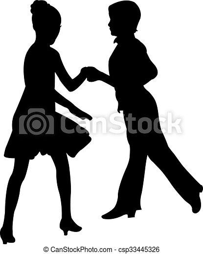 dansare, passion, tango, golv - csp33445326