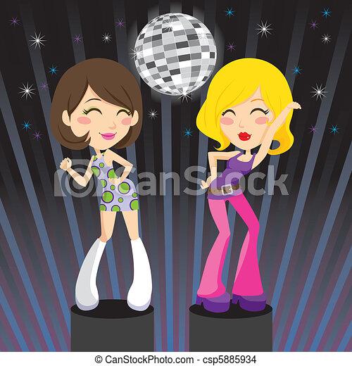 danse, disco - csp5885934