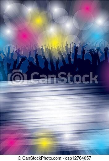 danse, fête, flayer - csp12764057