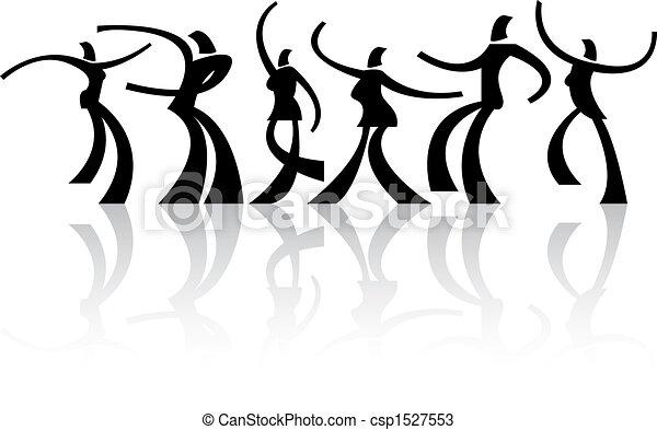 danse, gens - csp1527553
