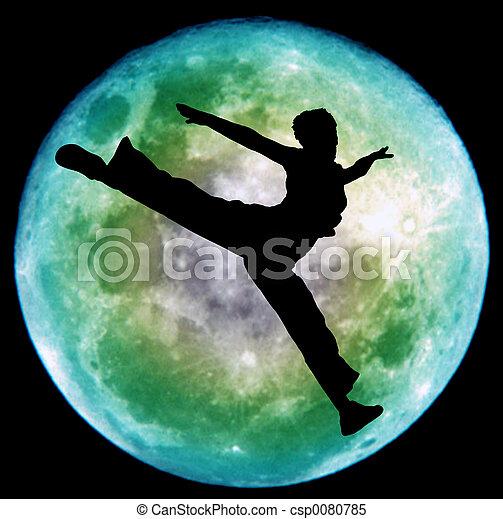 danse, lune - csp0080785