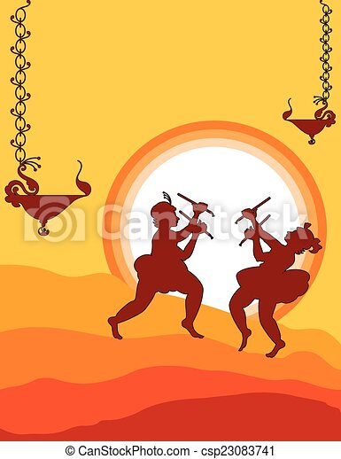 danse, ombre, garba, art - csp23083741