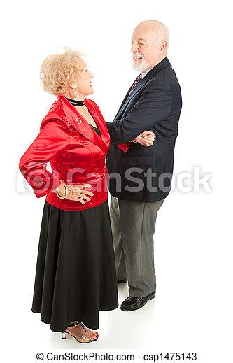 dansen, paar, senior - csp1475143