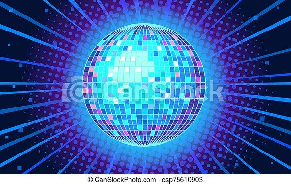 danser balle, fond, bleu - csp75610903