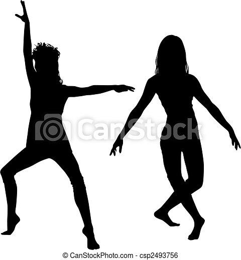 danser, silhouette - csp2493756