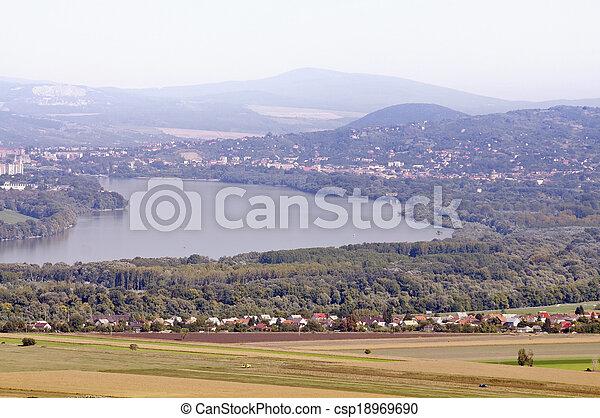 Danube at Esztergom, Hungary - csp18969690