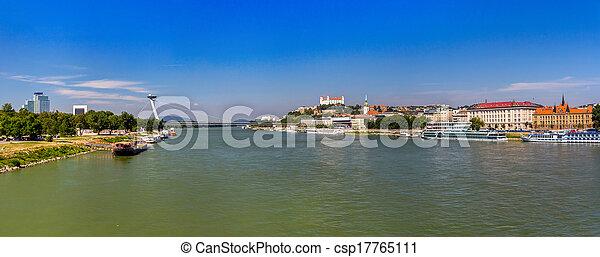 Danube river in Bratislava - Slovakia - csp17765111