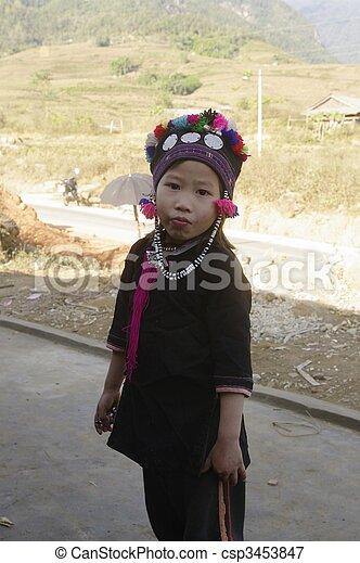 """Dao black girl """"Tien"""" - csp3453847"""