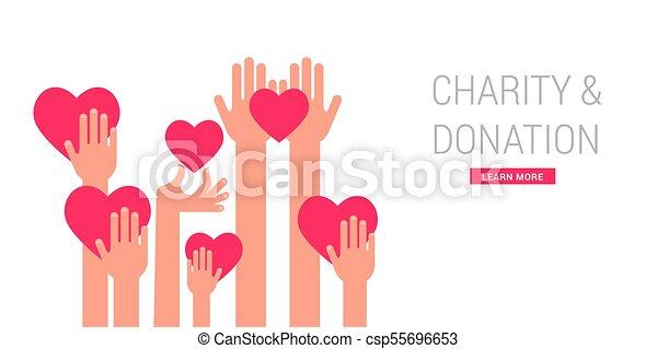 Caridad, donación y plantilla de posters - csp55696653